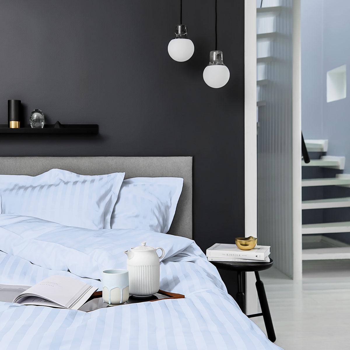 Billede af Georg Jensen Damask sengetøj - Vertical - Light blue