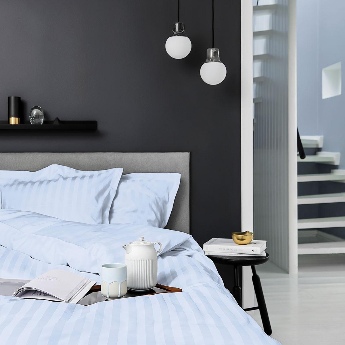 Image of   Georg Jensen Damask sengetøj - Vertical - Light blue