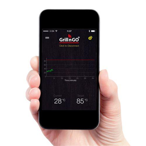 Smuk Grill- og stegetermometer Grill'n'go - Bluetooth Se temperaturen SI-96