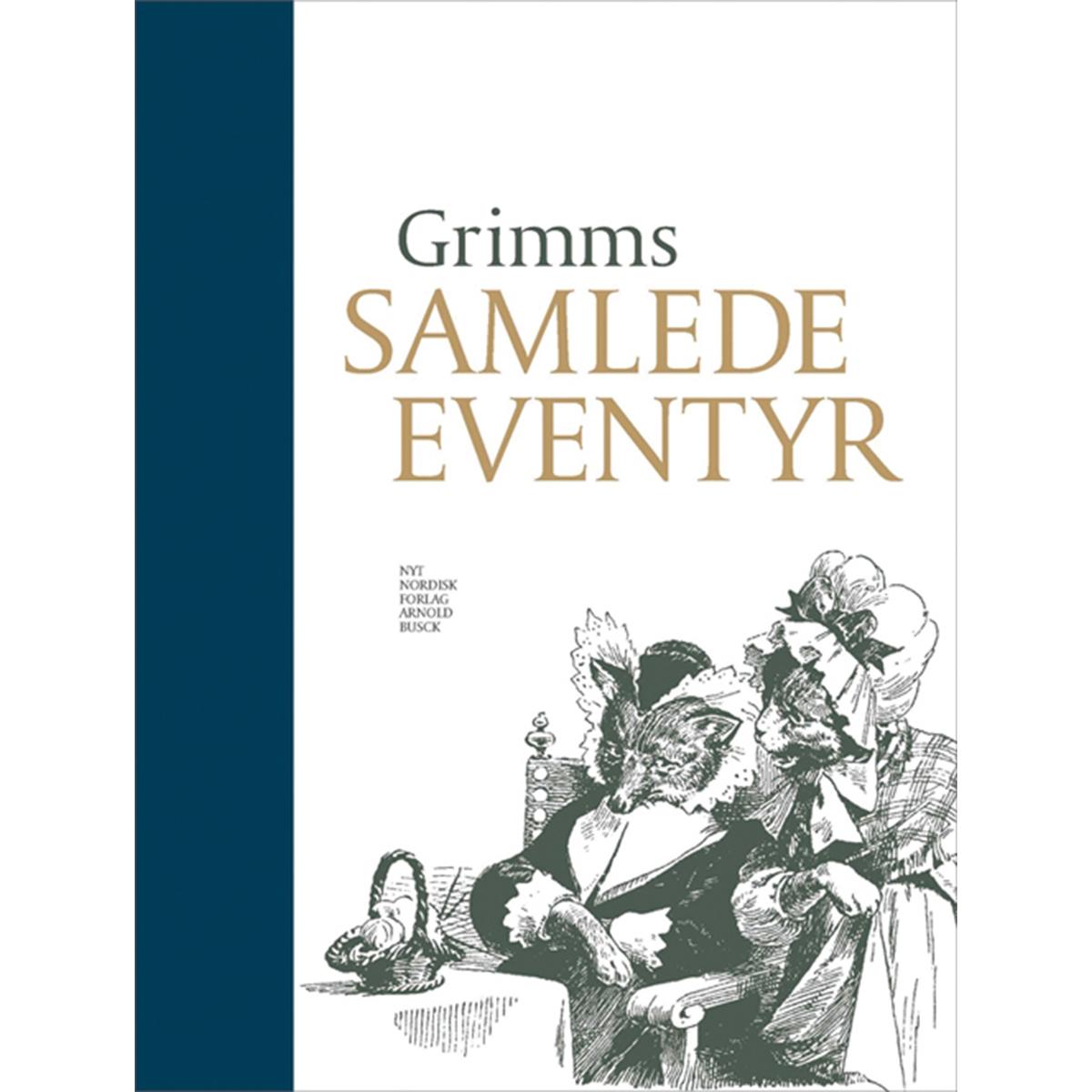 Image of   Grimms samlede eventyr - med blå luksusindbinding - Indbundet