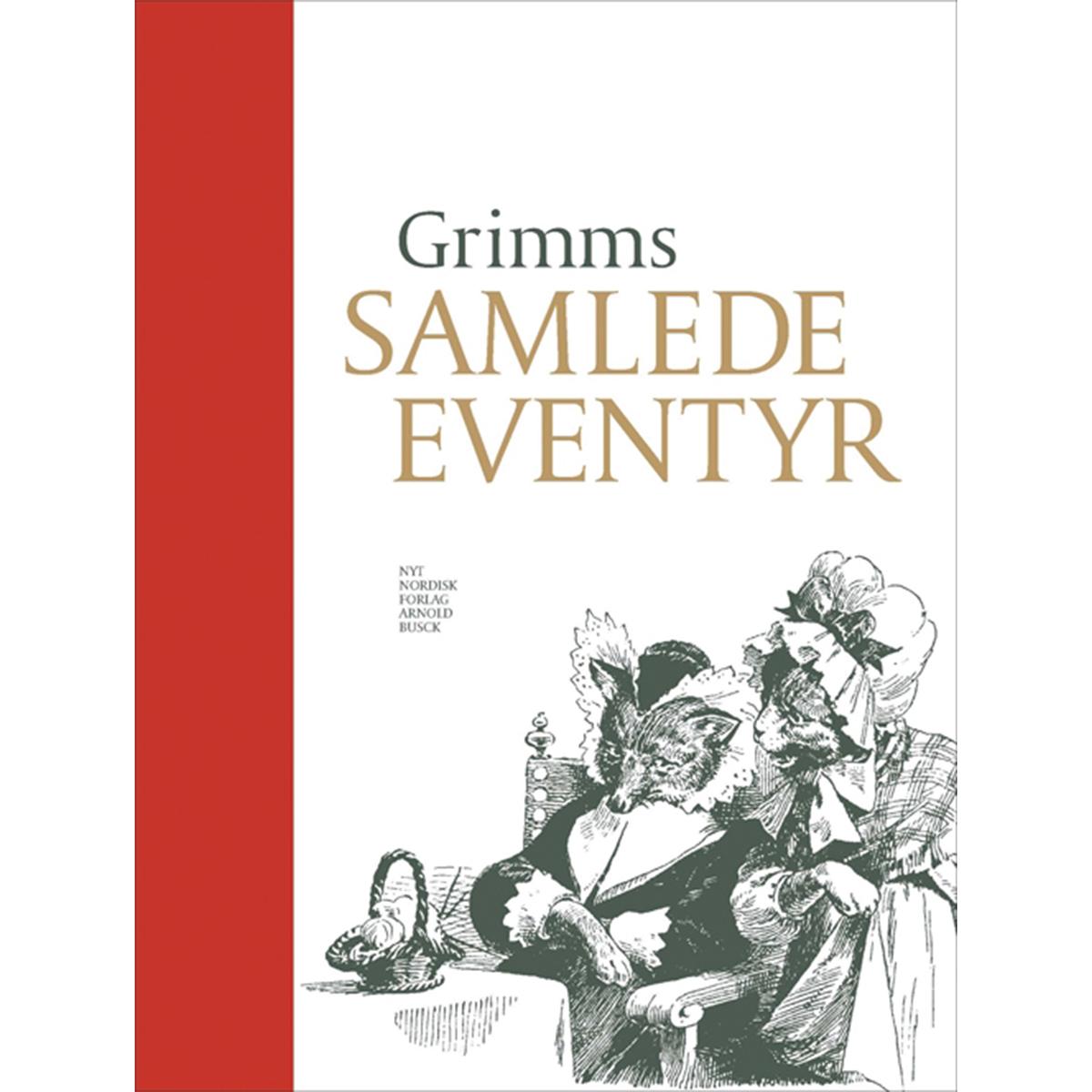 Image of   Grimms samlede eventyr - med rød luksusindbinding - Indbundet