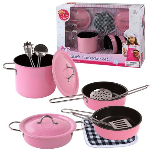 Image of   Grydesæt med potter og pander - Pink