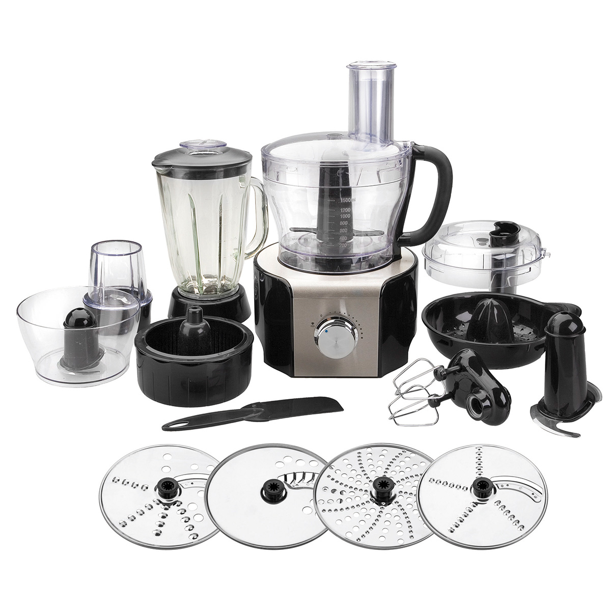 Image of   H. W. Larsen foodprocessor - Lacor - Stål/sort