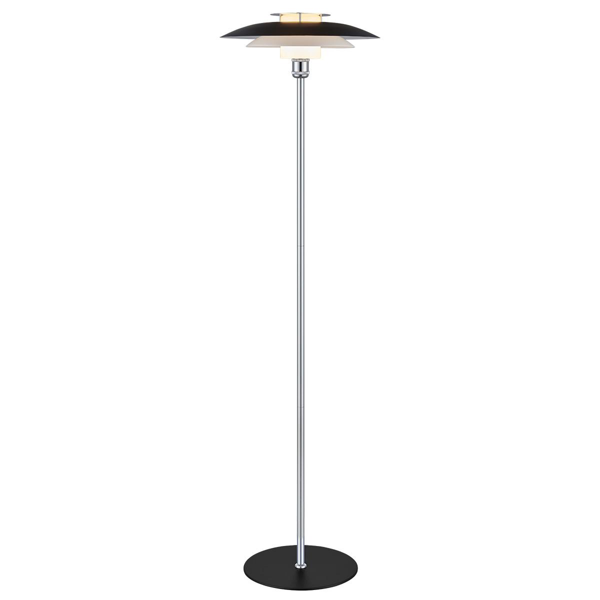 Halo Design gulvlampe - Rivalto - Sort/krom