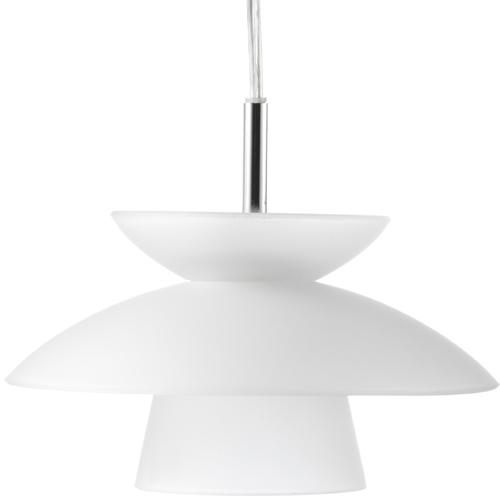 Image of   Halo Design pendel - Safir - Hvid/krom