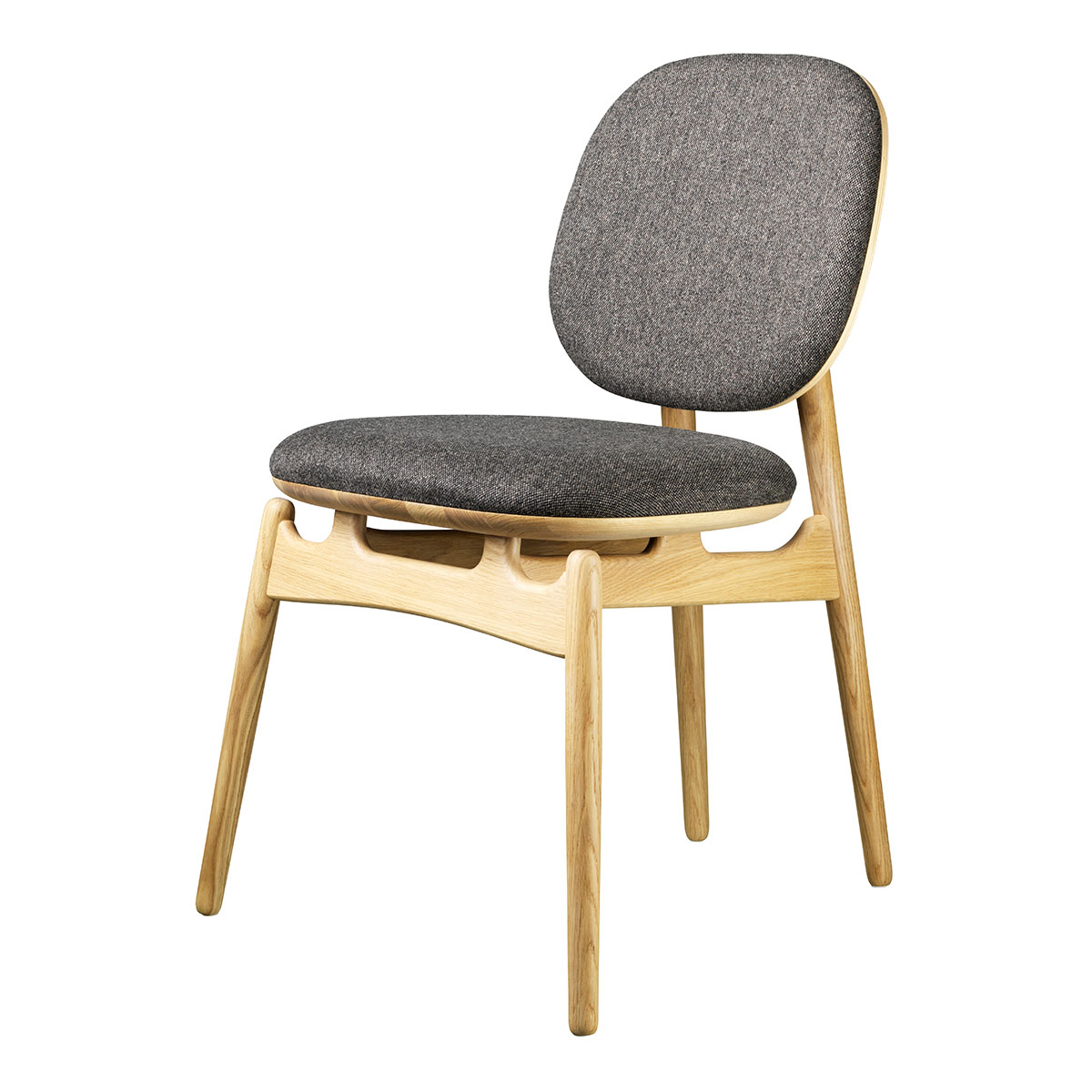 Image of   Hans-Christian Bauer stol - J161 PoSpiSto - Eg/gråt tekstil