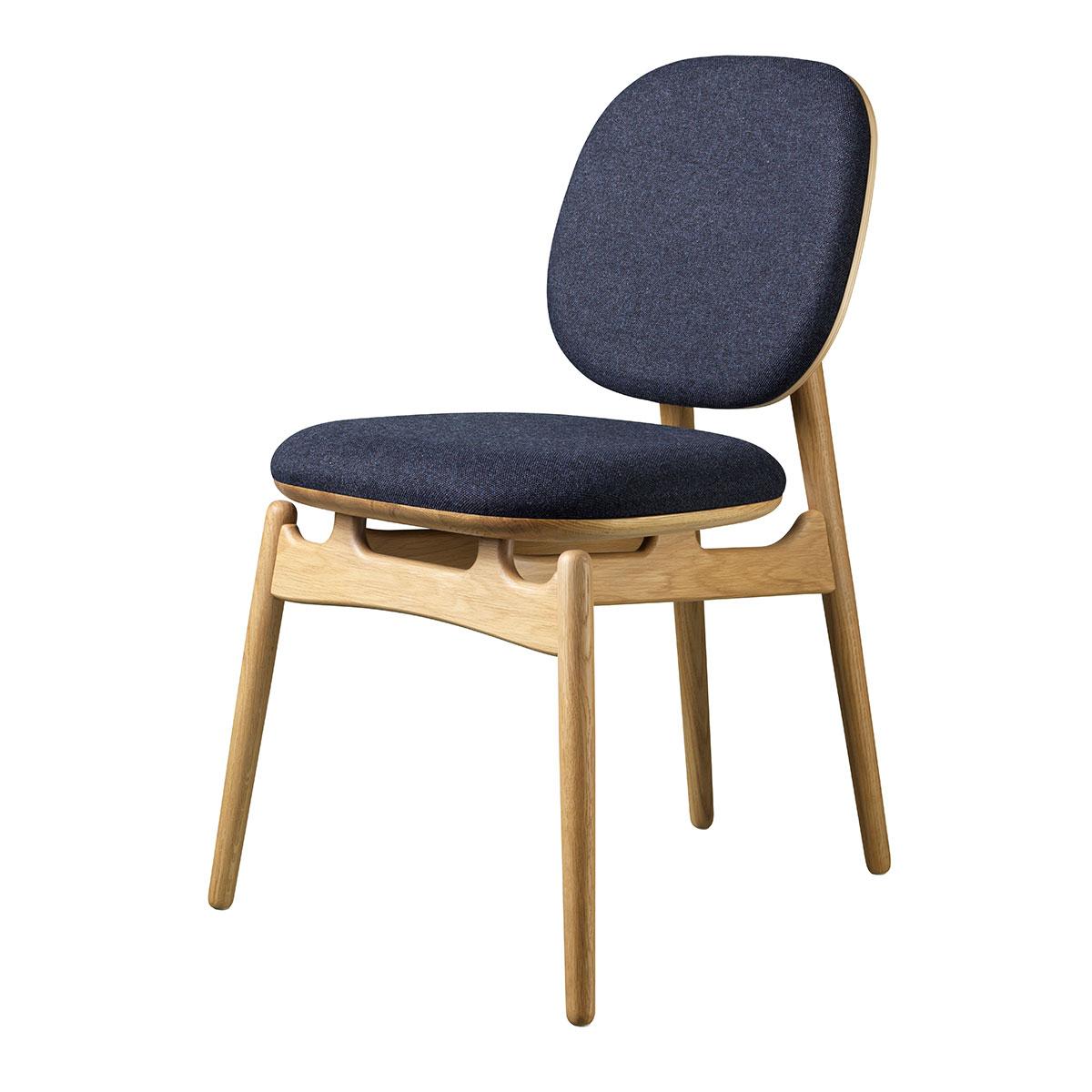 Image of   Hans-Christian Bauer stol - J161 PoSpiSto - Eg/mørkeblåt tekstil