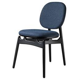 Image of   Hans-Christian Bauer stol - J161 PoSpiSto - Sort eg/mørkeblåt tekstil