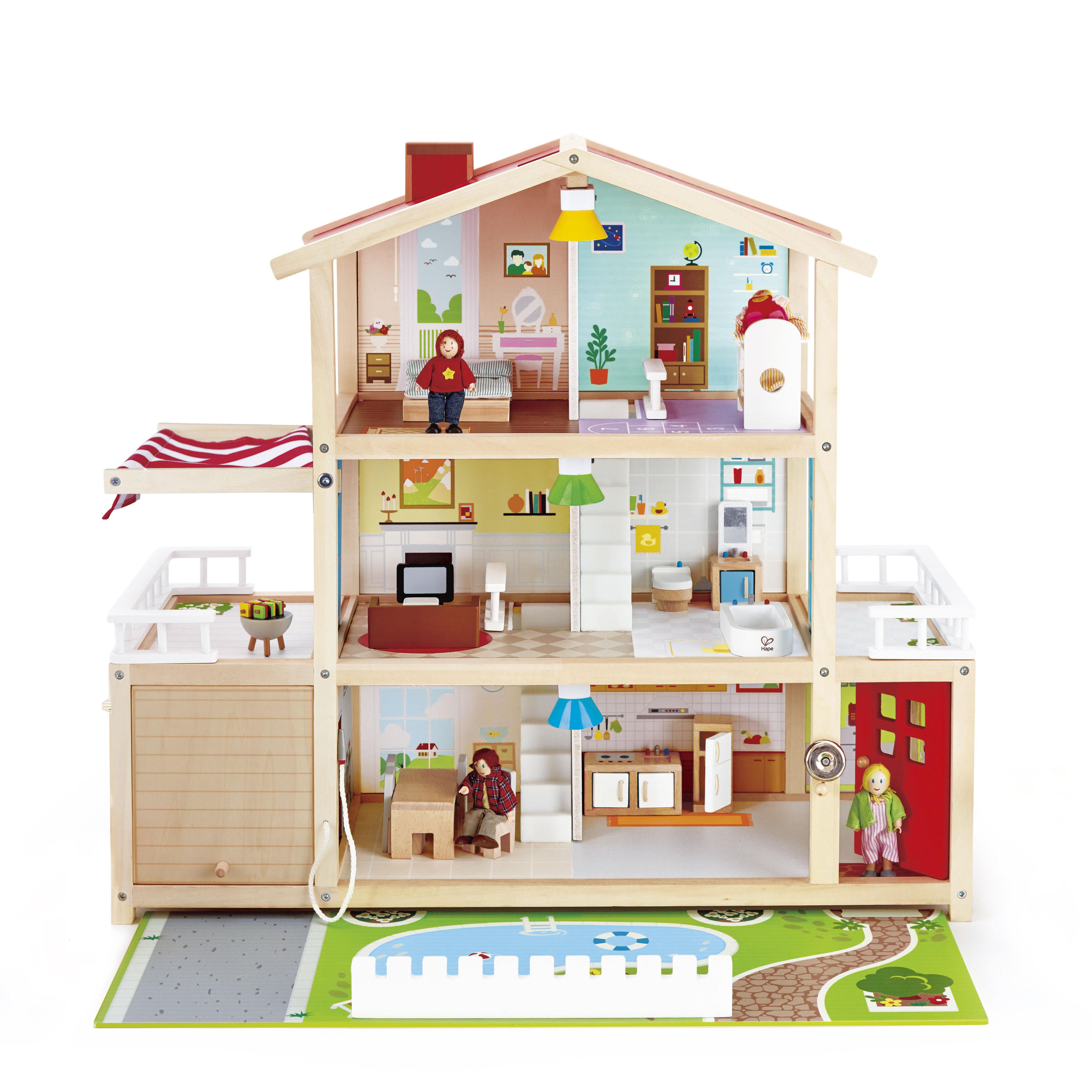 Image of   Hape dukkehus - Doll Family Mansion