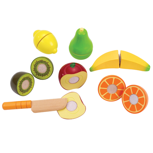 Image of   Hape legemad - Frugt og kniv - Fresh Fruit