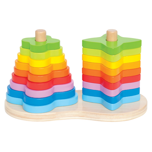 Image of   Hape stabeltårn - Double Rainbow Stacker