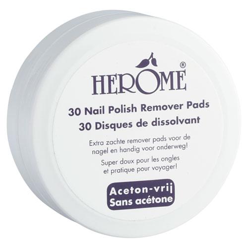 Herôme Caring Nail Polish Remover Pads 30 stk