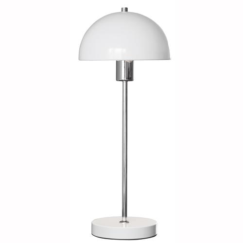 Image of   Herstal bordlampe - Vienda - Hvid/krom
