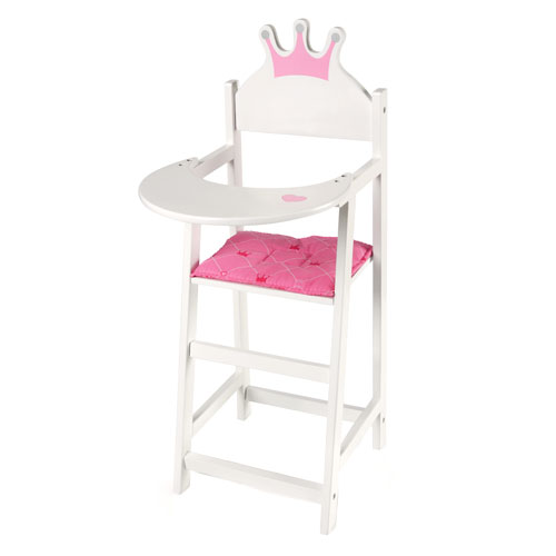 Image of   Høj dukkestol med sædehynde