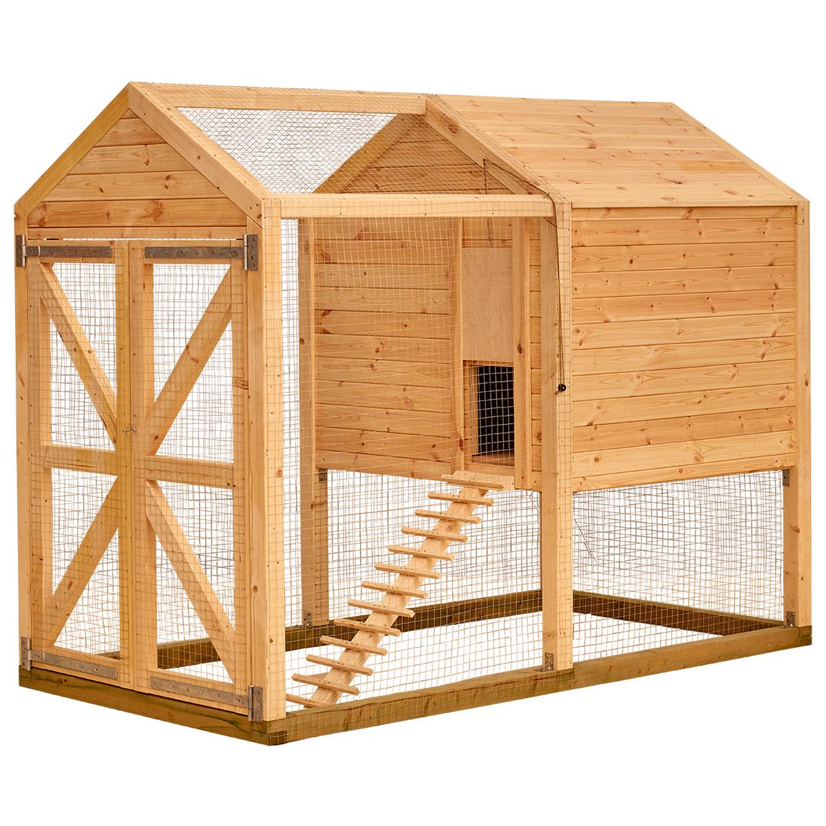 Billede af Hønsehus med hønsegård og redekasse til 4 høns