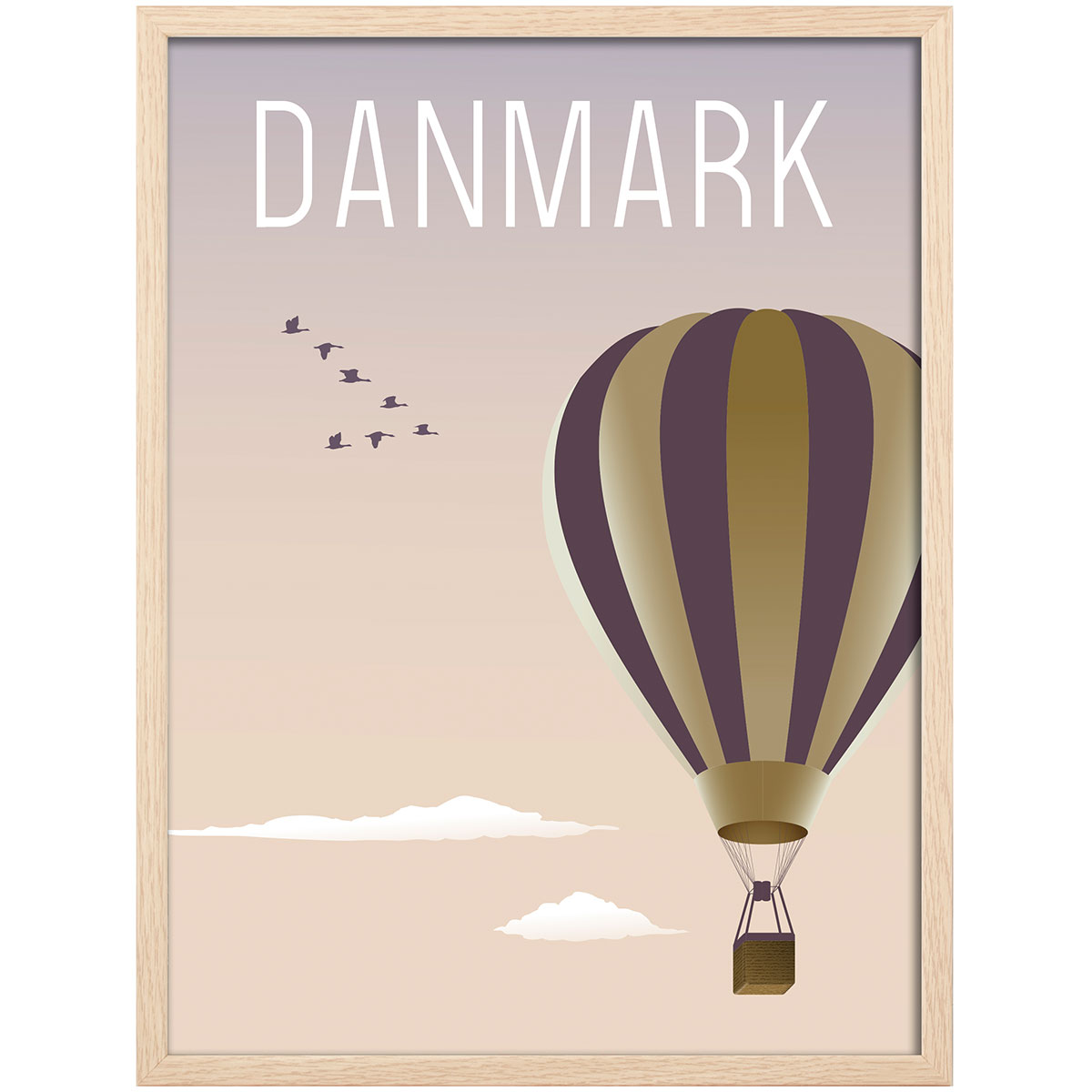 Image of   Hoi Denmark plakat i ramme - Luftballon