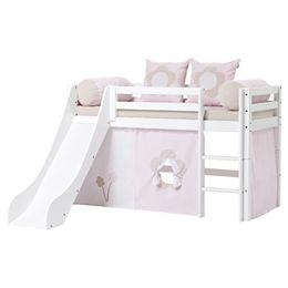Image of   Hoppekids halvhøj seng med rutsjebane - Basic - Fairytale Flower