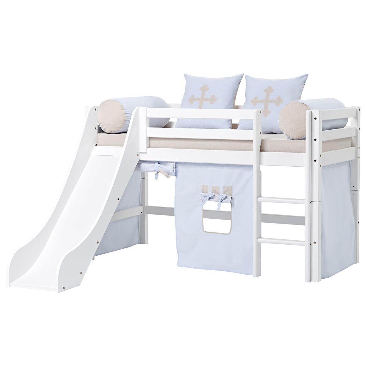 Billede af Hoppekids halvhøj seng med rutsjebane - Basic - Fairytale Knight