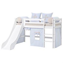 Image of   Hoppekids halvhøj seng med rutsjebane - Basic - Fairytale Knight