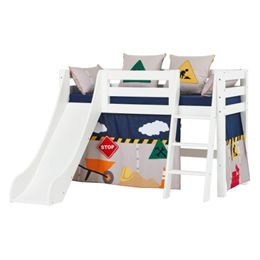 Hoppekids halvhøj seng med rutsjebane – Premium – Construction