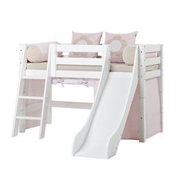 Image of   Hoppekids halvhøj seng med rutsjebane - Premium - Fairytale Flower