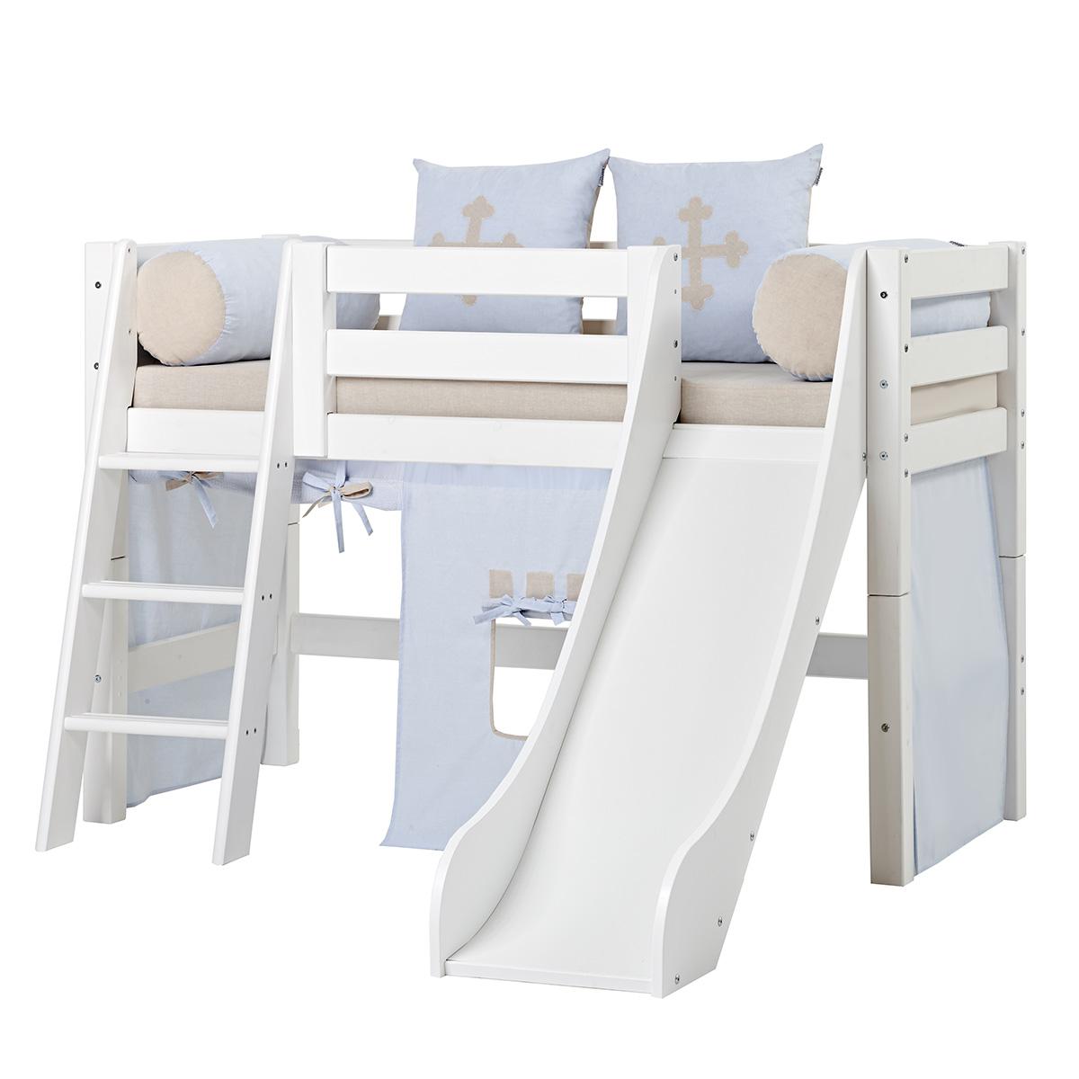 Billede af Hoppekids halvhøj seng med rutsjebane - Premium - Fairytale Knight