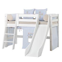 Image of   Hoppekids halvhøj seng med rutsjebane - Premium - Fairytale Knight