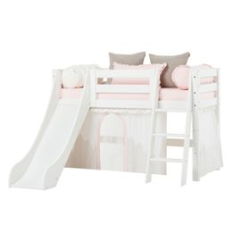 Hoppekids halvhøj seng med rutsjebane – Premium – Winter Wonderland