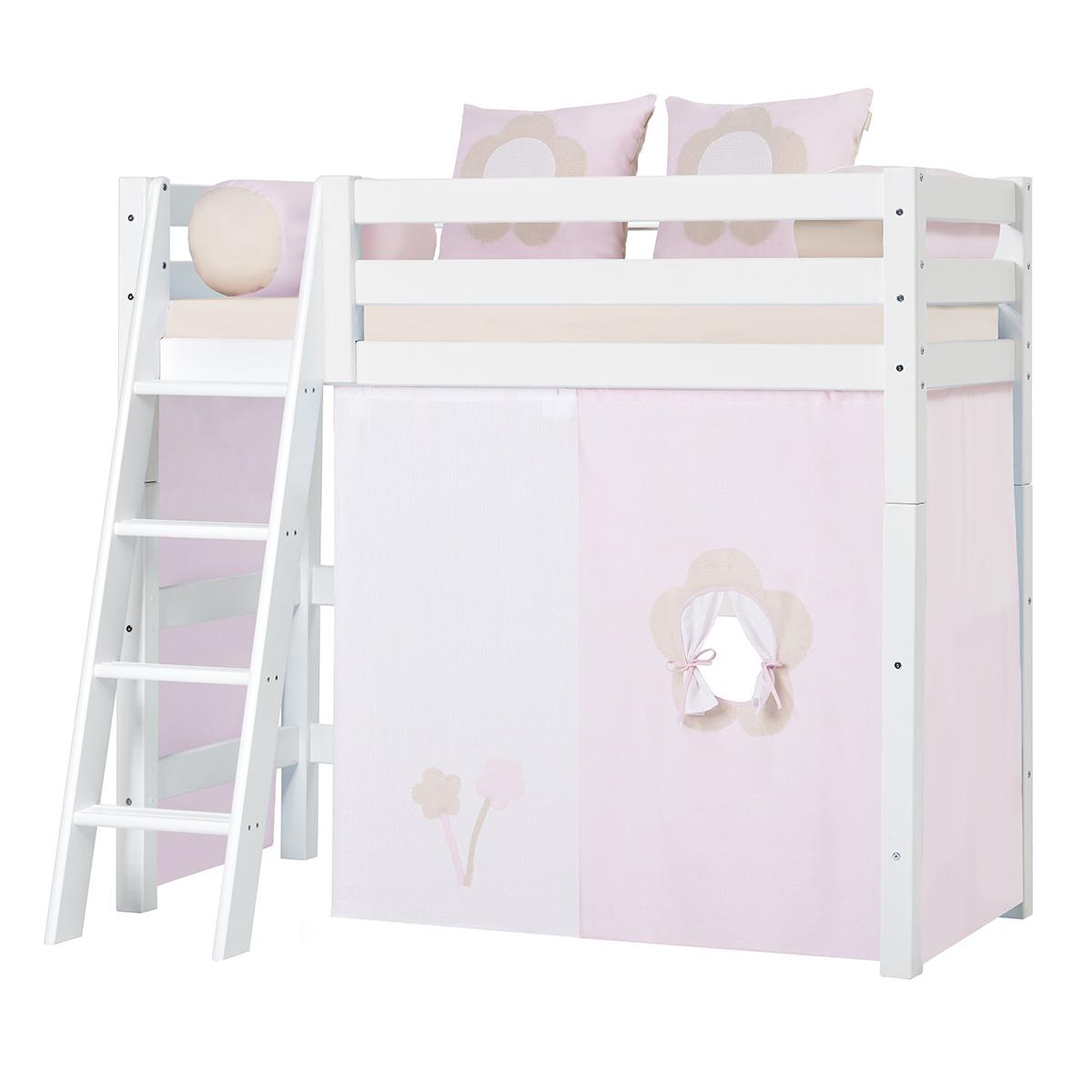 Billede af Hoppekids mellemhøj juniorseng - Premium - Hvid med Fairytale Flower