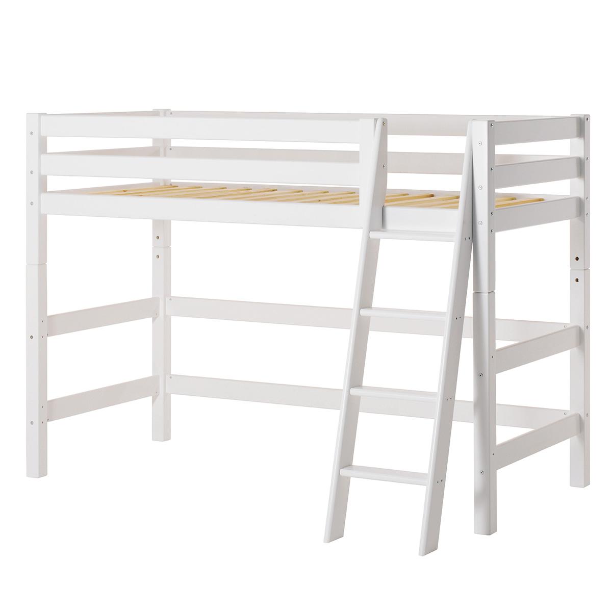 Billede af Hoppekids mellemhøj seng - Premium - Hvid