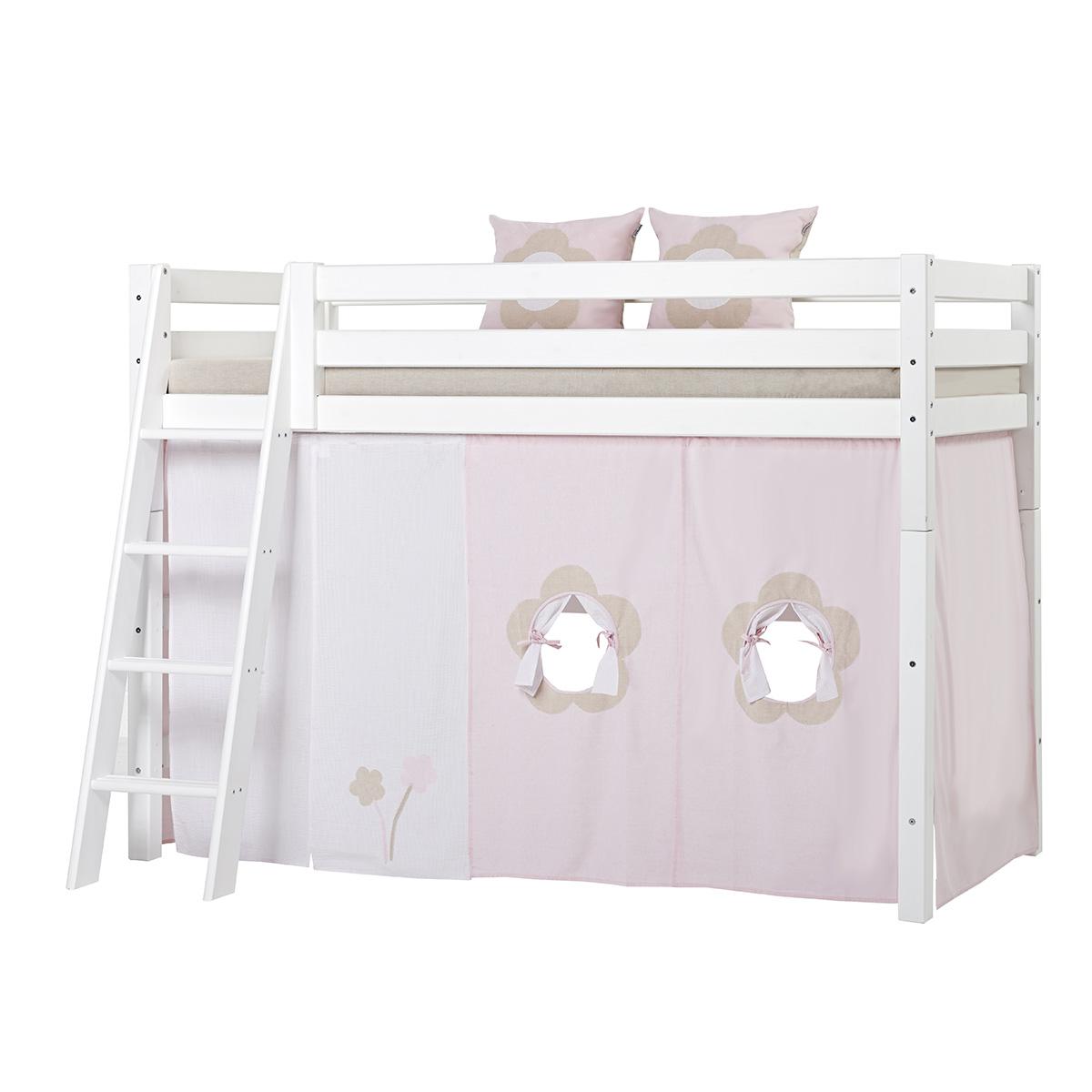 Billede af Hoppekids mellemhøj seng - Premium - Hvid med Fairytale Flower