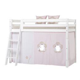 Image of   Hoppekids mellemhøj seng - Premium - Hvid med Fairytale Flower