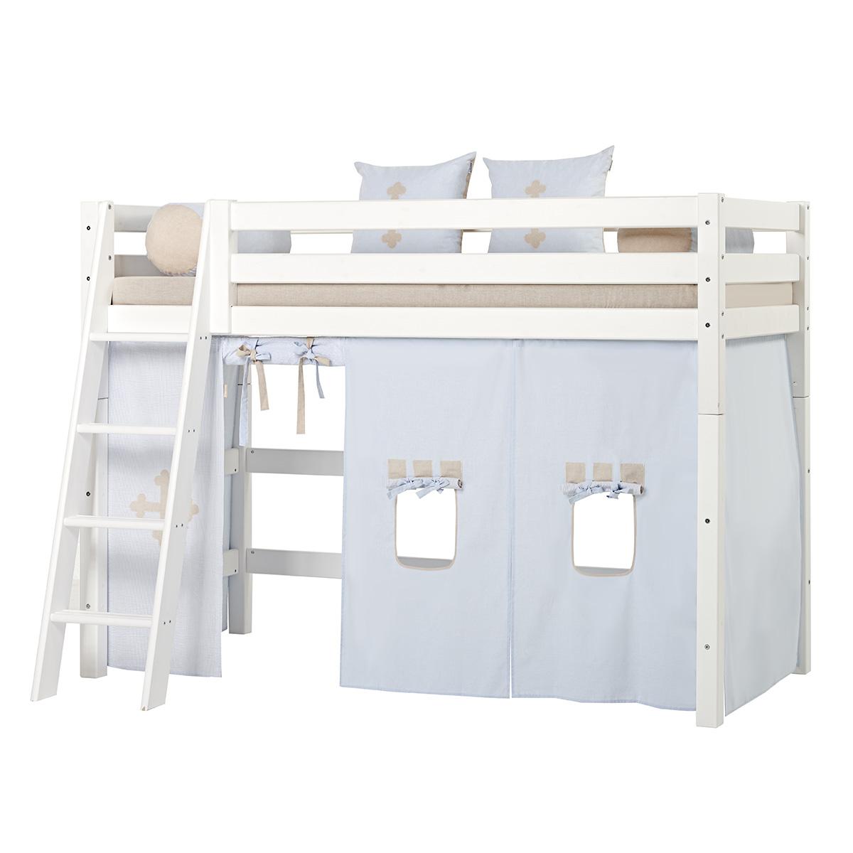 Billede af Hoppekids mellemhøj seng - Premium - Hvid med Fairytale Knight