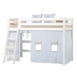 Image of   Hoppekids mellemhøj seng - Premium - Hvid med Fairytale Knight