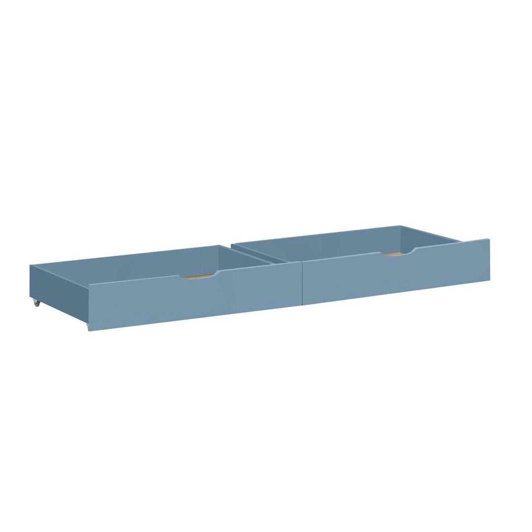 Billede af Hoppekids sengeskuffer på hjul - Ida-Marie - Støvet blå