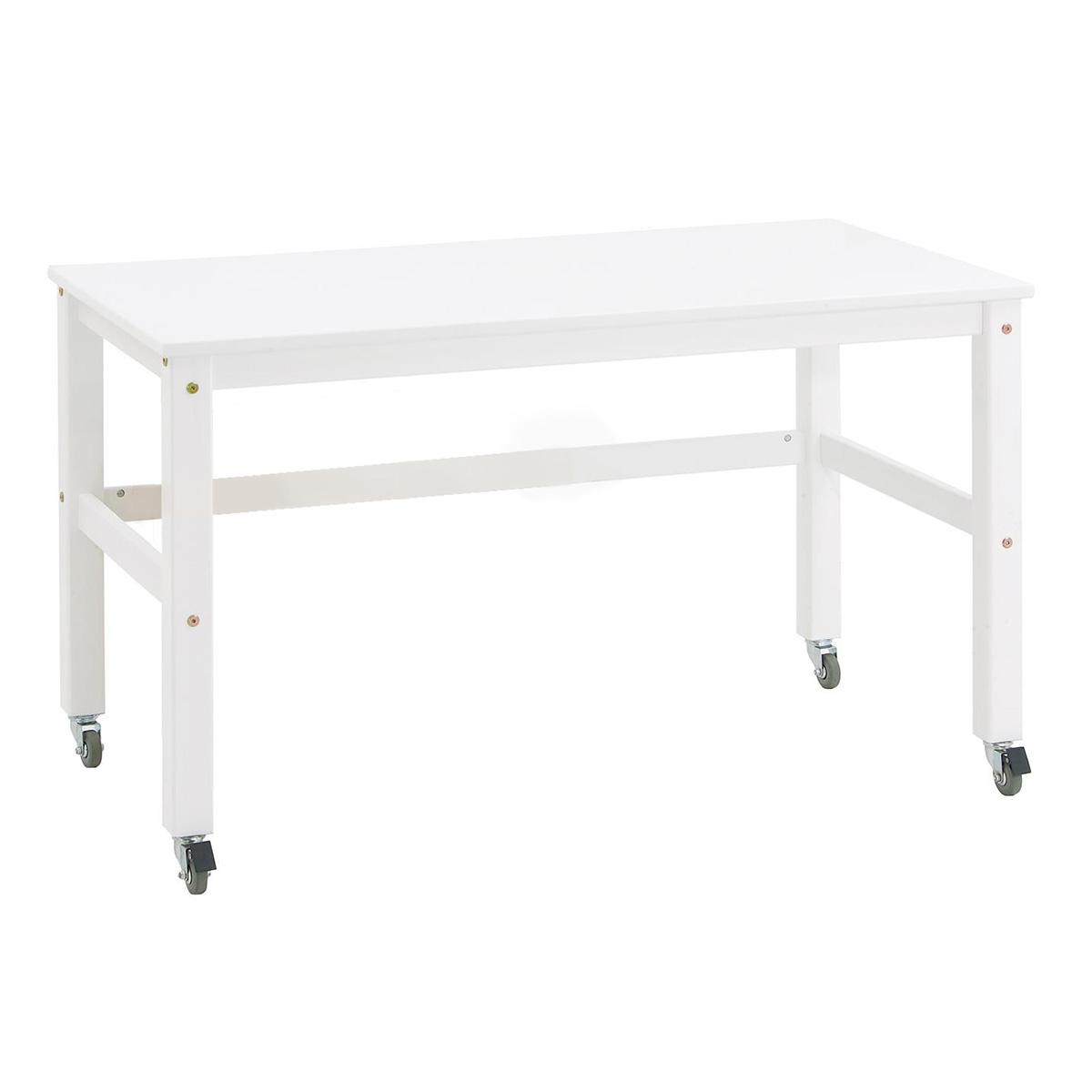 Image of   Hoppekids skrivebord med hjul - Jonas - Hvid