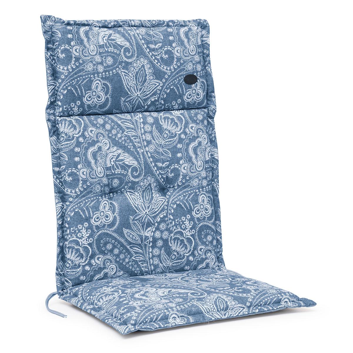 Image of   Hynde til positionsstol - Paisley blå