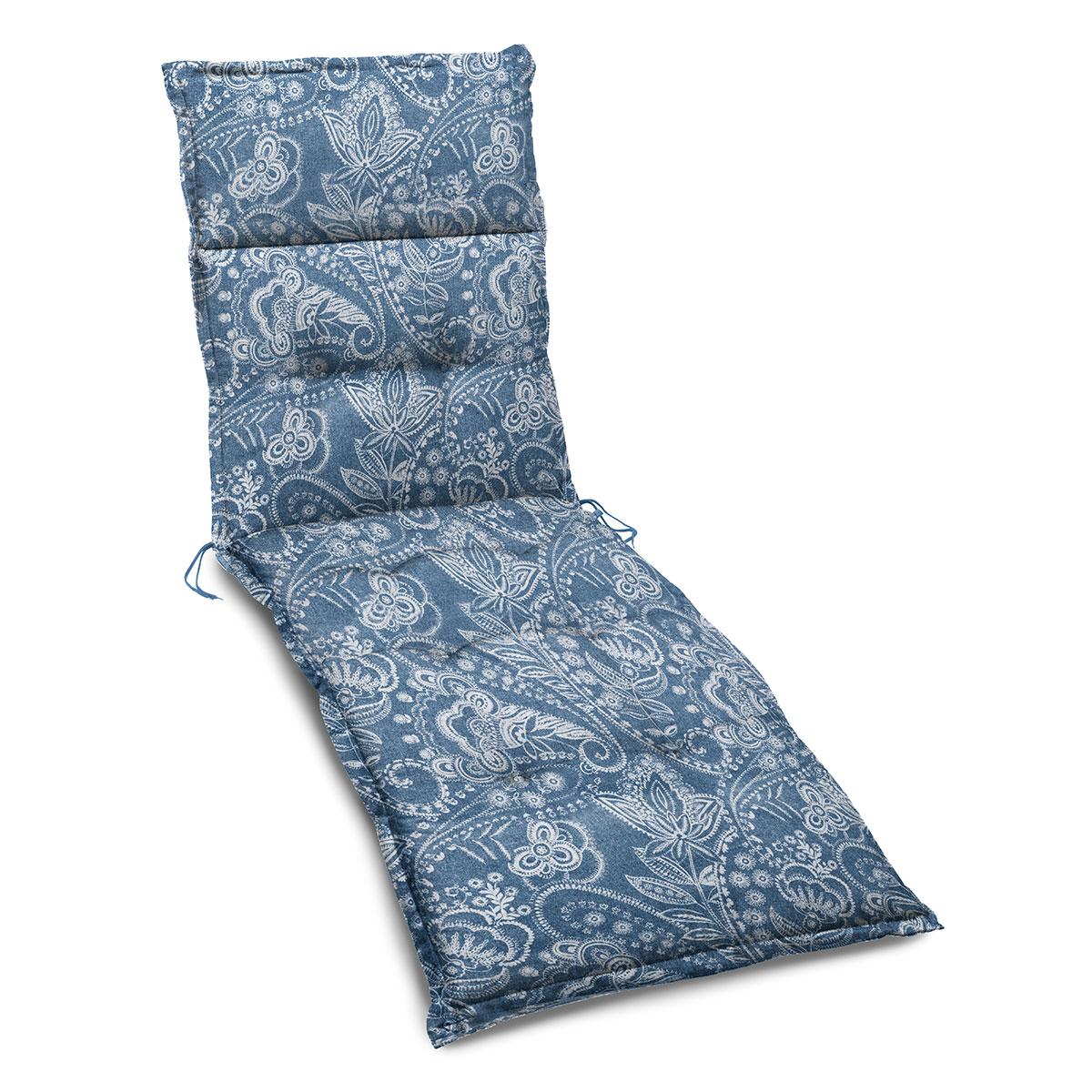 Image of   Hynde til solseng - Paisley blå