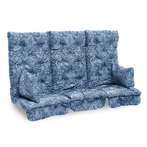 Image of   Hyndesæt til Molly hængesofa - Paisley blå