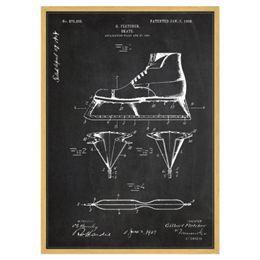 Image of   Ice Skate plakat i ramme - Patent