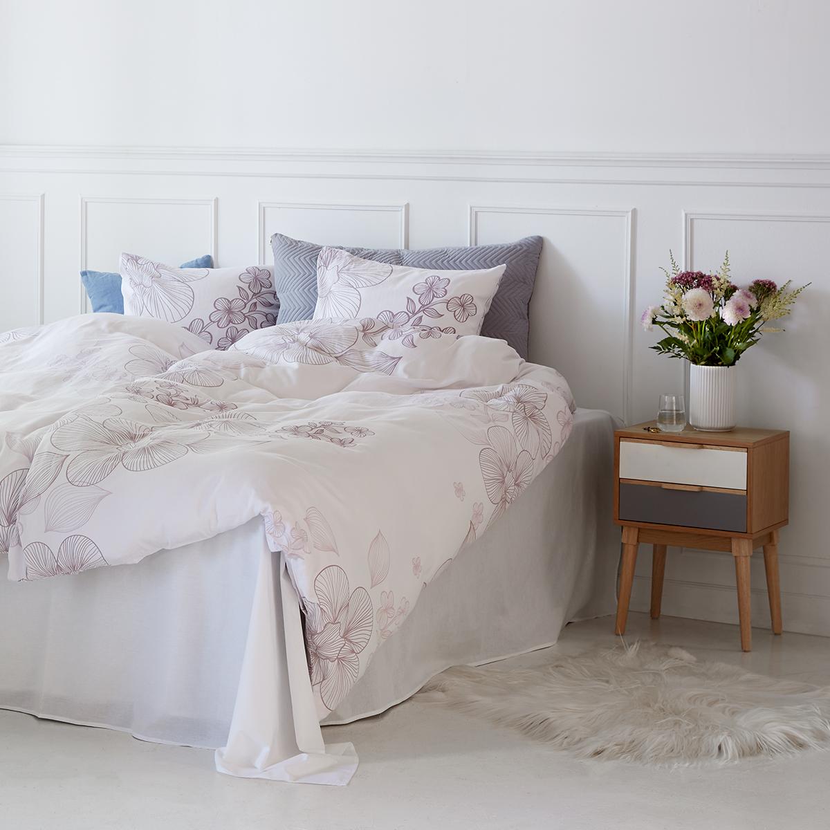 f2f7a4fd00a Isabell Kristensen sengetøj - Hvid Bomuldssatin - 140 x 200 cm - Coop.dk