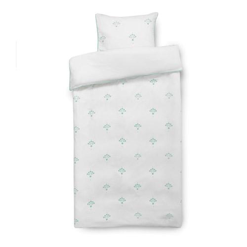 Isabell Kristensen sengetøj - Hvid og støvet mint