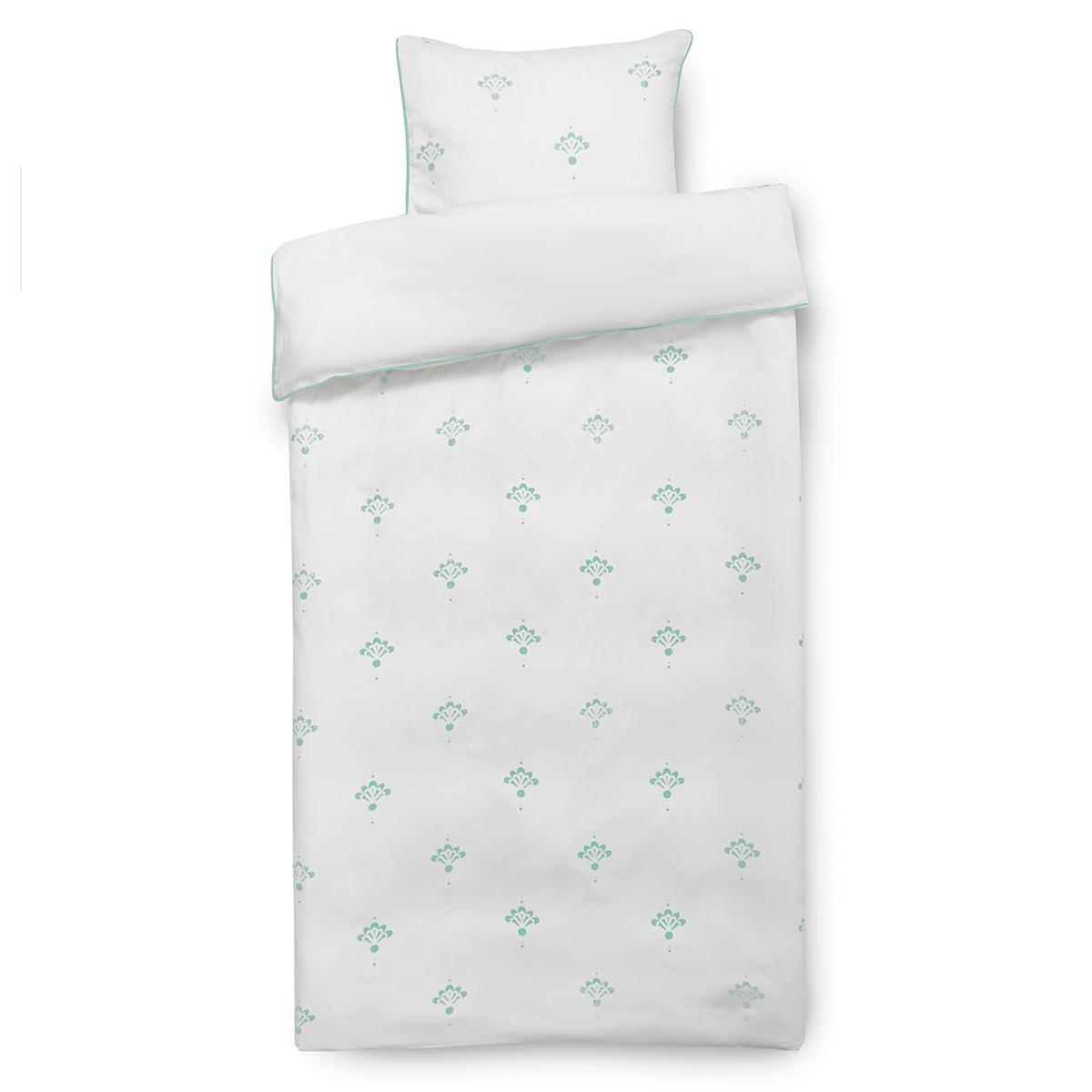 Image of   Isabell Kristensen sengetøj - Hvid og støvet mint