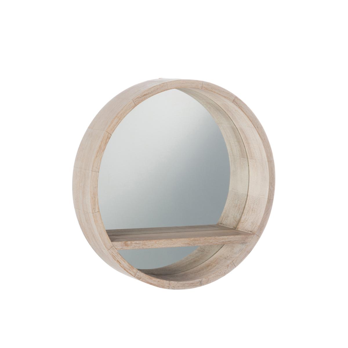 J-Line spejl - Wood Round - S