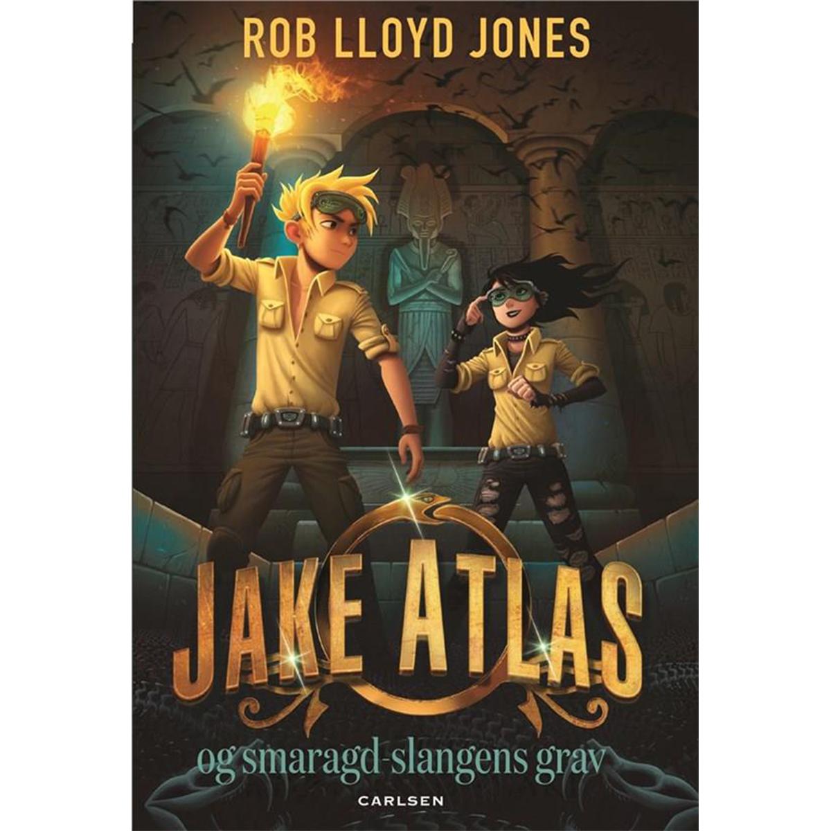 Image of   Jake Atlas og smaragdslangens grav - Indbundet