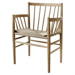 Image of   Jørgen Bækmark stol med armlæn - J81 - Matlakeret eg