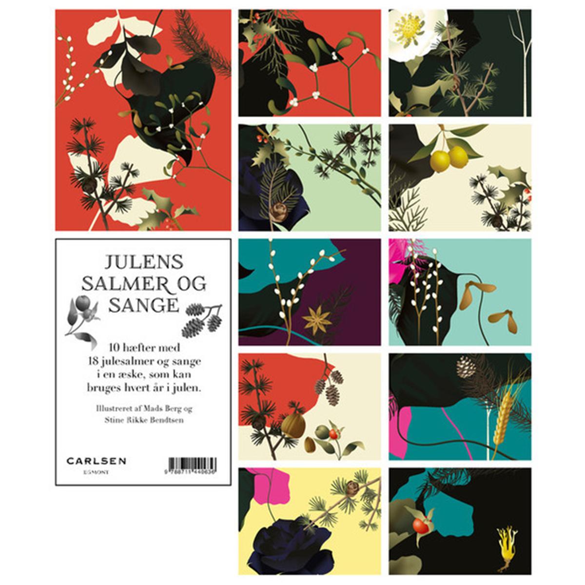 Image of   Julens salmer og sange - 10 hæfter i en æske