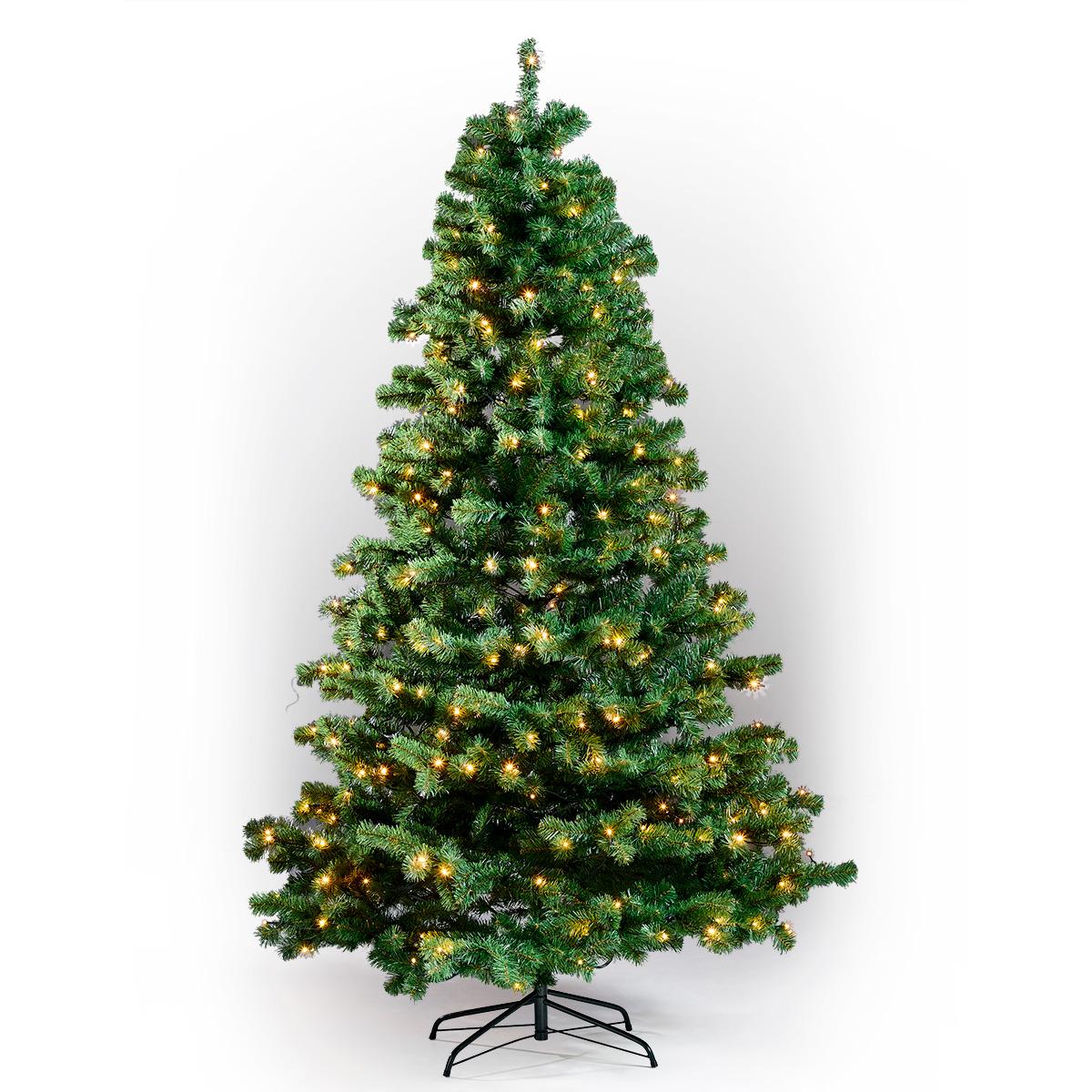 Image of   Juletræ med lys - H 210 cm