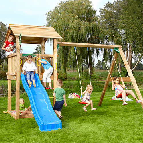 Image of   Jungle Gym Casa legetårn med gyngemodul