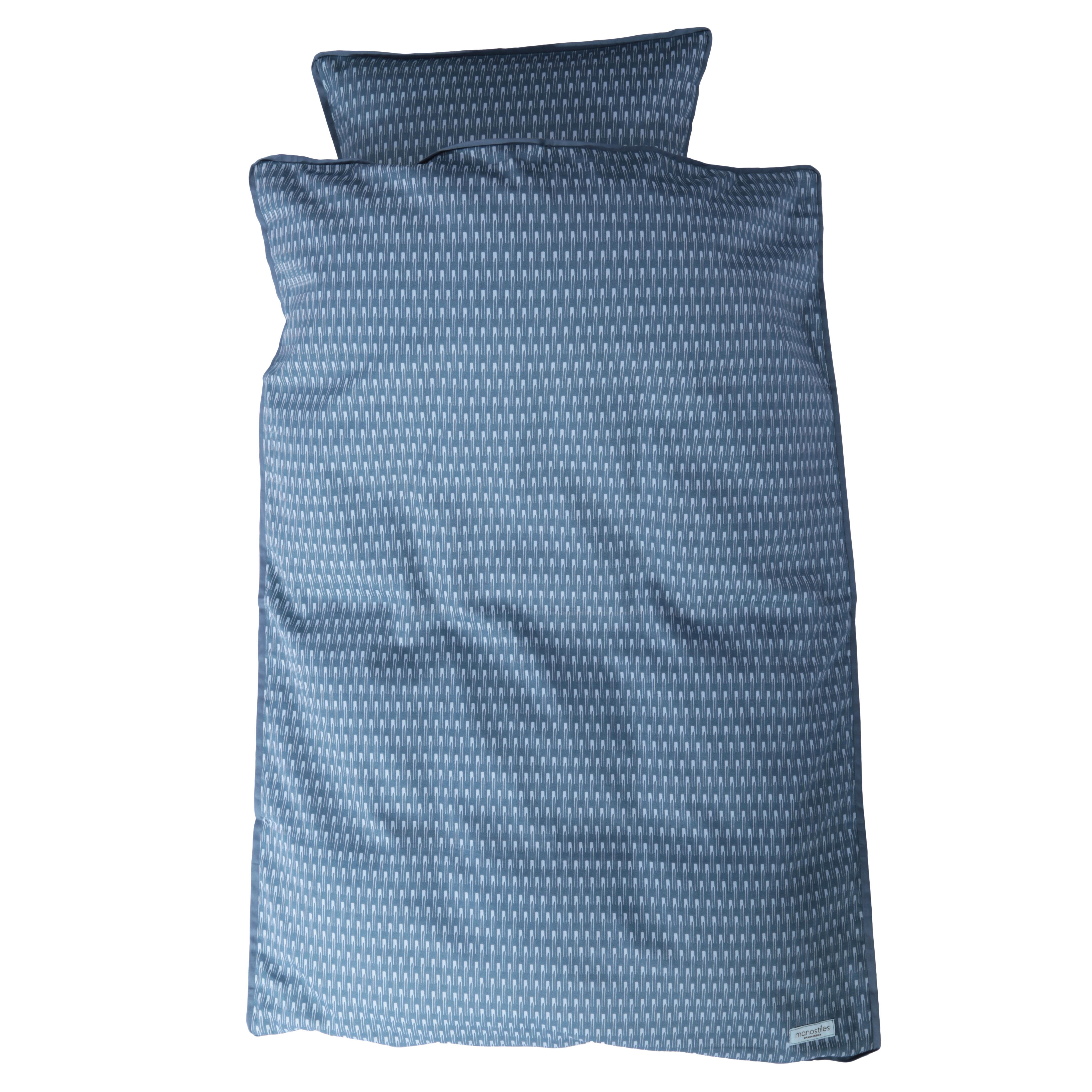 Image of   Juniorsengetøj - Manostiles - Oyster blue